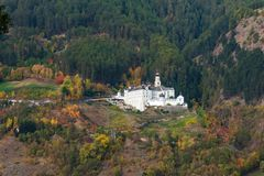 The benedictine Abbey of Marienberg in Burgeis, Vinschgau, South Tyrol royalty free stock photography