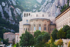 Benedictine Abbey at Montserrat Stock Images