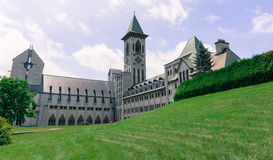 Benedictine Abbey od Saint Benoit du lac Stock Photo