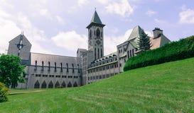 Benedictine Abbey od Saint Benoit du lac Stock Photo
