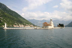 Benedictine abbey in Perast Royalty Free Stock Photography