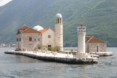 Benedictine abbey in Perast Stock Photo
