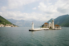 Benedictine abbey in Perast Stock Images