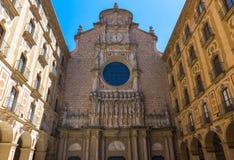 Benedictine abbey Santa Maria de Montserrat, which hosts the Virgin of Montserrat sanctuary near Barcelona. Spain Royalty Free Stock Photography