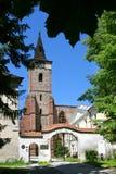 Benedictine abbey Sazava cloister, Czech republic Royalty Free Stock Photo
