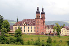 Benedictine Abbey of St. Peter in Germany. Baroque church in the heart of Black Forest Royalty Free Stock Photos