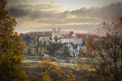 Benedictine Abbey at sun golden hour Royalty Free Stock Images