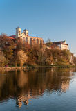 Benedictine abbey in Tyniec in fall, Krakow, Poland Royalty Free Stock Photos