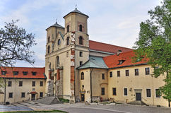 Benedictine abbey in Tyniec, Krakow, Poland. Benedictine monastery and Saint Peter and Paul church in Tyniec near Cracow, Poland stock image