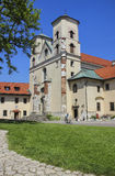The Benedictine Abbey in Tyniec, Krakow, Poland. Stock Image