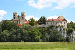 The Benedictine Abbey in Tyniec, Poland Stock Photography