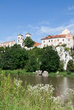 The Benedictine Abbey in Tyniec in Poland with wisla river Stock Images