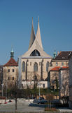 Benedictine monastery. Founded by Charles IV. in 1347. All that survives are the capitular hall, imperial chapel and cloisters with mural paintings the stock image