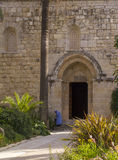The Benedictine monastery in Abu Ghosh,built by the Crusaders in Royalty Free Stock Image