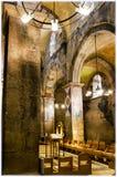 Benedictine monastery in Abu Ghosh. Frescoes in Church of the Resurrection, Benedictine Monastery, St Mary of the Resurrection Abbey in Abu Ghosh, near Jerusalem Royalty Free Stock Image