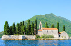 Benedictine monastery on the island Royalty Free Stock Images
