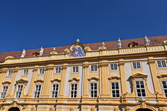 Benedictine monastery Melk. The abbey was founded in 1089 when Leopold II, Margrave of Austria gave one of his castles to Benedictine monks from Lambach Abbey. A royalty free stock image