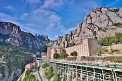 Benedictine monastery of Montserrat (Monasterio de Montserrat). Stock Photo