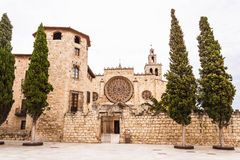 Benedictine monastery in Sant Cugat, Spain Stock Photography