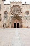 Benedictine monastery in Sant Cugat, Spain Royalty Free Stock Image