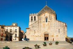 Benedictine monastery Sant Pere de Besalu in town of Besalu, Catalonia, Spain Stock Images
