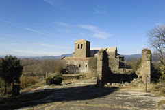 Benedictine monastery of Sant Pere de Casserres, Masies de Roda, Osona, Barcelona province,Catalonia, Spain Royalty Free Stock Photo