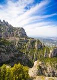 Benedictine monastery of Santa Maria de Montserrat Stock Photography