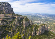 Benedictine monastery of Santa Maria de Montserrat Royalty Free Stock Photo