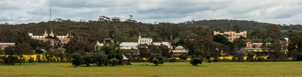 Benedictine Monastery in Western Australia. In Western Australia exists a Benedictine Monastery at New Norcia. It consists of farms and provides a school camp stock images