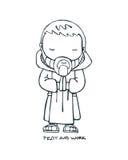 Benedictine monk Stock Images