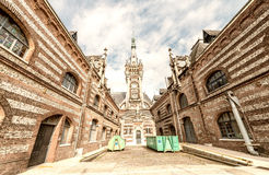 Benedictine palace in neo-Gothic and neo-renaissance styles buil Royalty Free Stock Photos