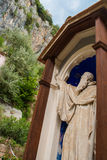 Benedictine statue in benedictine monastery Royalty Free Stock Photography