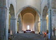 Benedictineabbotskloster av Abruzzo Royaltyfria Foton