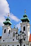 Benedictinekerk in GyÅ ` r, Hongarije Stock Afbeelding