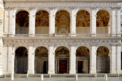 Benediction loggia at Basilica of S. Giovanni in Laterano Royalty Free Stock Photography