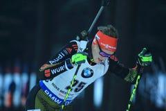 Benedikt Doll - biathlon Royalty-vrije Stock Afbeelding
