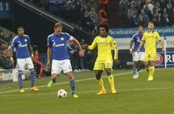 Benedikt Höwedes and William FC Schalke v FC Chelsea 8eme Final Champion League Royalty Free Stock Photos