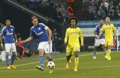Benedikt Höwedes and William FC Schalke v FC Chelsea 8eme Final Champion League Stock Images