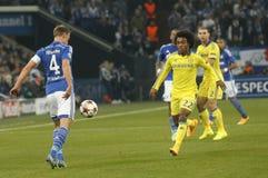 Benedikt Höwedes and William FC Schalke v FC Chelsea 8eme Final Champion League Stock Photo