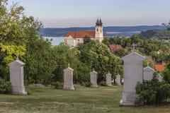 Benediktiner-Abtei auf dem Tihany Stockbild