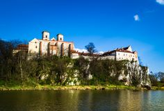 Benediktiner-Abtei in Tyniec, Polen Stockbilder