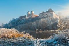 Benediktinerabtei in Tyniec im Hintergrund, Krakau, Polen Lizenzfreies Stockfoto