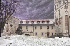 Benediktinerabtei in Tyniec nahe Krakau, Polen, Lizenzfreies Stockfoto
