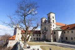 Benediktinerabtei in Tyniec nahe Krakau, Polen Stockbilder