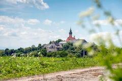 Benediktinerabtei von Andechs - Panorama Stockfotos