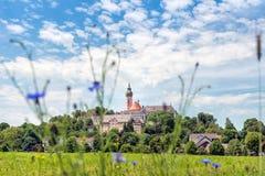 Benediktinerabtei von Andechs - Panorama Stockfotografie