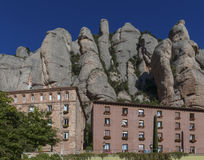 Benediktinerkloster bei Montserrat nahe Barcelona Stockbilder