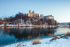 Benediktinerkloster in Tyniec Stockbilder