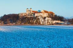 Benediktinerkloster in Tyniec, Polen Stockbilder