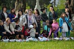 Benedizione dei canestri di Pasqua Immagine Stock Libera da Diritti